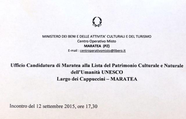 Presentazione carteggio - UNESCO